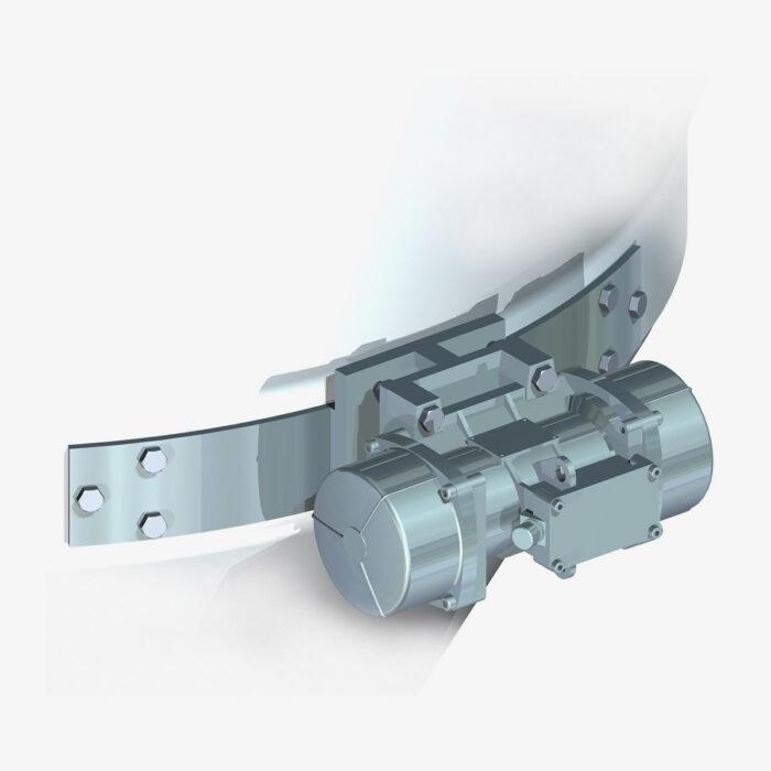 Vibratore Trifase con staffa di supporto Mod. VIBTR